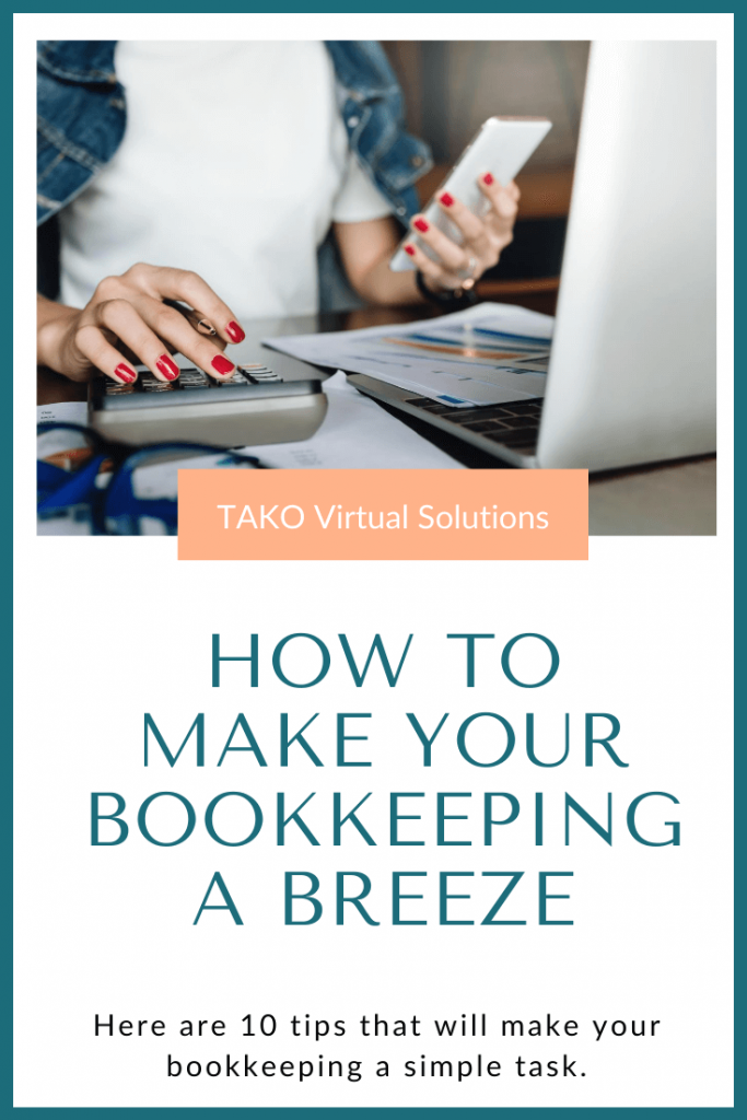 Top 10 tips to make your bookkeeping a breeze