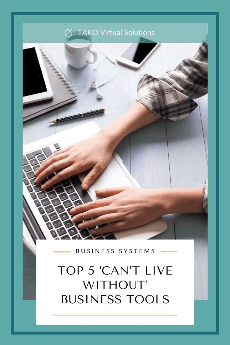 Top 5 'can't live without' business tools - pinterest
